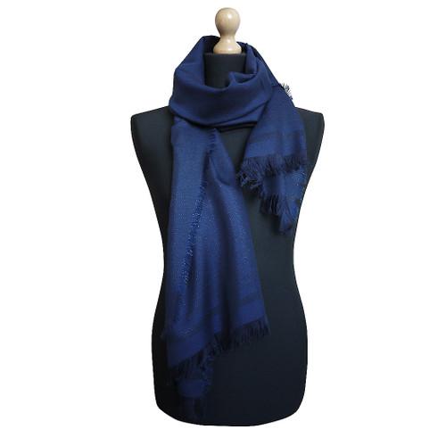 Maalbi Luxury Italian Virgin Wool Stole Scarf - Blue