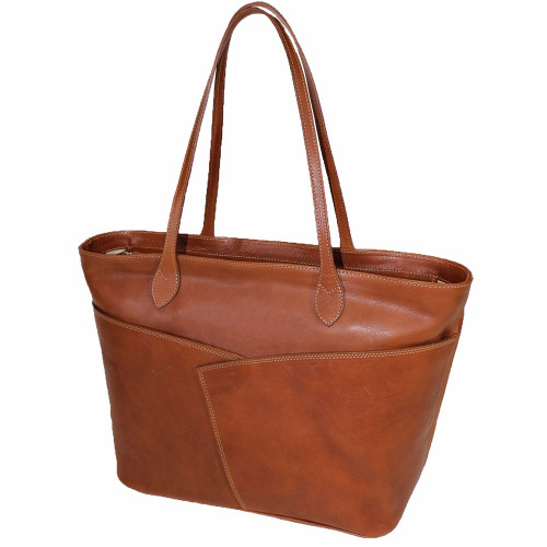 Terrida Italian Leather Shopper Tote Bag