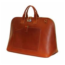 Terrida Veneto Italian Leather Large Travel Bag - Brown