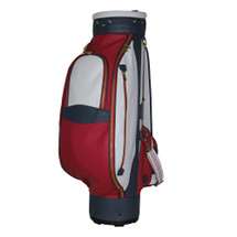Terrida Veneto Italian Luxury Leather Golf Bag - Red