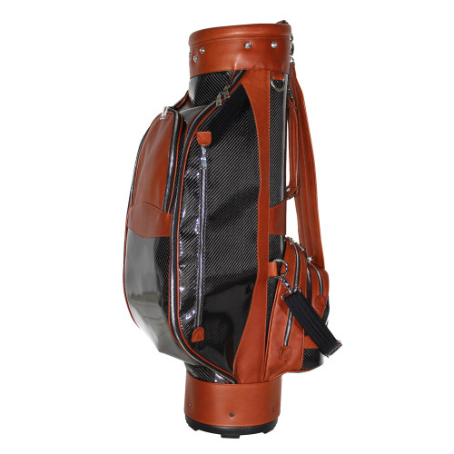 Terrida Carbon Italian Luxury Leather Golf Bag - Tan