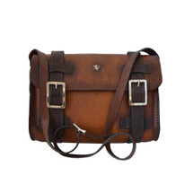 Pratesi Firenze Aged Italian Leather Satchel - Brown