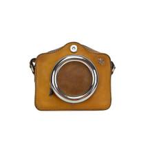 7a1ee638d1 Pratesi Fiorento Aged Leather Bucket Cross-Body Bag - Tan - Attavanti