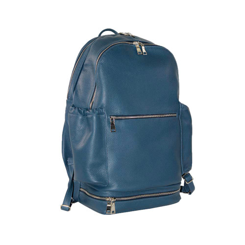 Terrida Italian Leather Sports Backpack - Blue