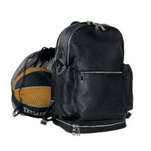 Terrida Italian Leather Sports Backpack - Black