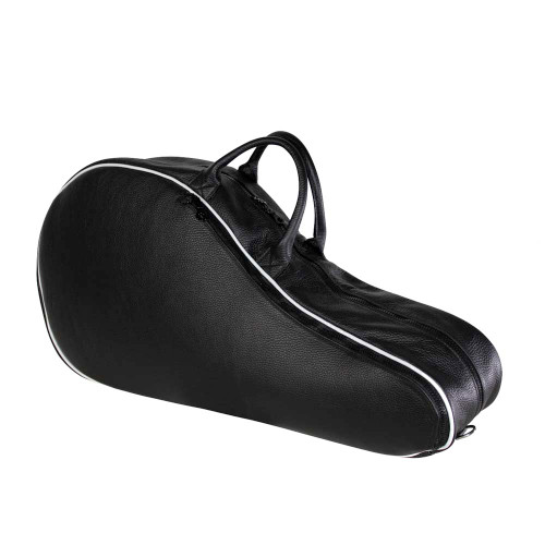 Terrida Italian Leather Tennis Racket Bag Double - Black