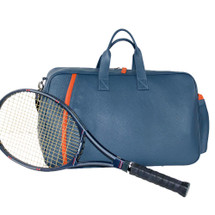 Terrida Vincenza Italian Leather Multi Sports Holdall - Blue Orange