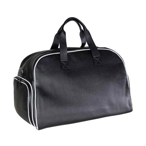 Terrida Italian Leather Sports Holdall - Black