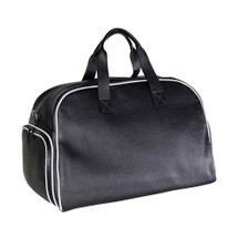 Terrida Italian Leather Sports Holdall - Black