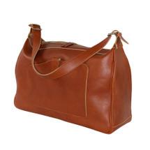 Terrida Classic Italian Leather Shoulder Travel Holdall Bag - Tan