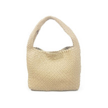 Ghibli Woven Leather Medium Grab Bag - Cream