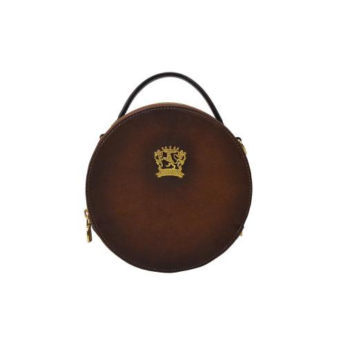 Pratesi Giro Round Aged Leather Shoulder Bag - Brown