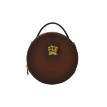 Pratesi Giro Round Aged Leather Shoulder Bag - Brown