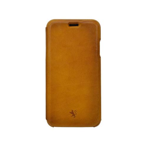 Pratesi Aged Leather iPhone XR Flap Case