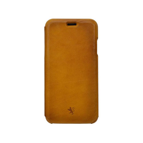 Pratesi Aged Leather iPhone XS Flap Case