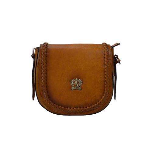 Pratesi Torino Aged Leather Satchel Shoulder Bag - Brown