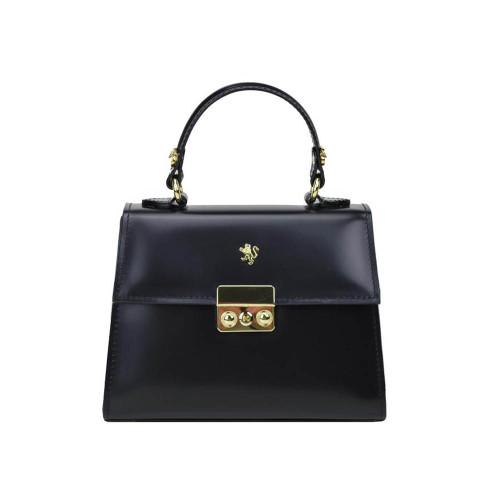 Pratesi Meraviglia Leather Grab Handbag - Black