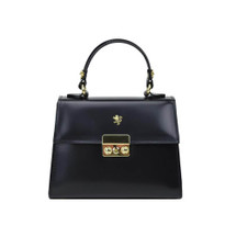 Pratesi Meraviglia Leather Grab Handbag - Black