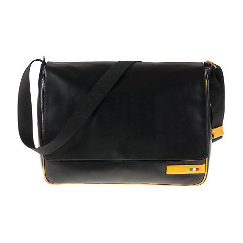 Tuscan's Vinci Luxury 2 Colour Leather Tablet Messenger Bag – Yellow