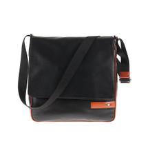 Tuscan's Arezzo Luxury 2 Colour Leather Messenger Bag – Orange