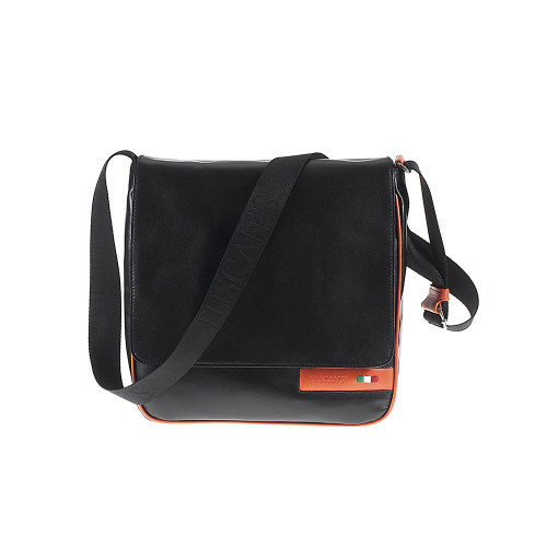 Tuscan's Abetone Luxury 2 Colour Leather Tablet Messenger Bag – Orange