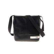 Tuscan's Abetone Luxury 2 Colour Leather Tablet Messenger Bag – White