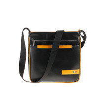 Tuscan's Aulla Luxury 2 Colour Leather Zip Top Messenger Bag – Yellow