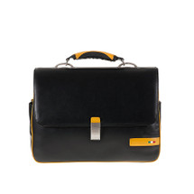 Tuscan's Giannella Leather Flap Over Top Handle Briefcase – Yellow