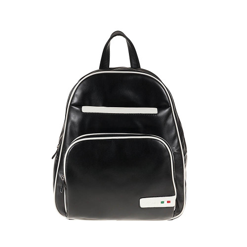 Tuscan's Atri 2 Colour Leather Backpack – White