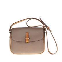 Tuscan's Avezzano Italian Leather Cross Body Satchel  Bag - Taupe