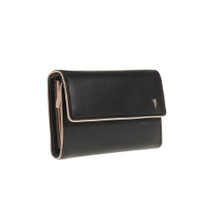 Tuscan's Leather 5 CC ID Coin Purse - Black Taupe