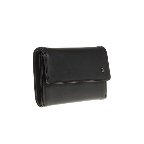 Tuscan's Leather 5 CC ID Coin Purse - Black Brown