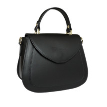 Stefano Turco Kiki Leather Grab Handbag - Black
