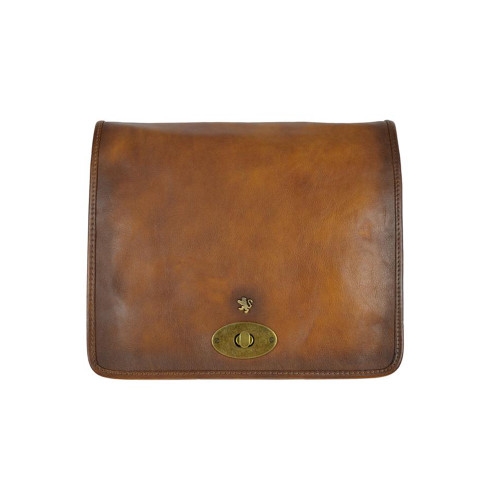 Pratesi Postina Large Aged Leather Messenger - Brown