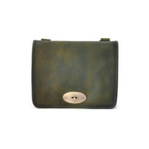Pratesi Postina Aged Leather Messenger - Green