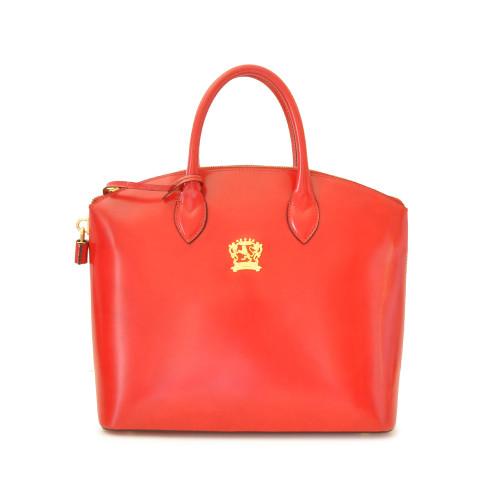 Pratesi Versilia Italian Leather Tote - Red