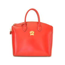 Pratesi Versilia Italian Leather Tote - Red
