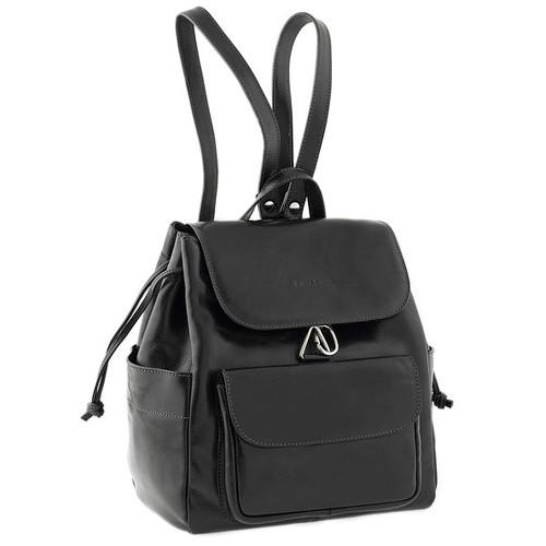 Chiarugi Italian Leather Backpack - Black