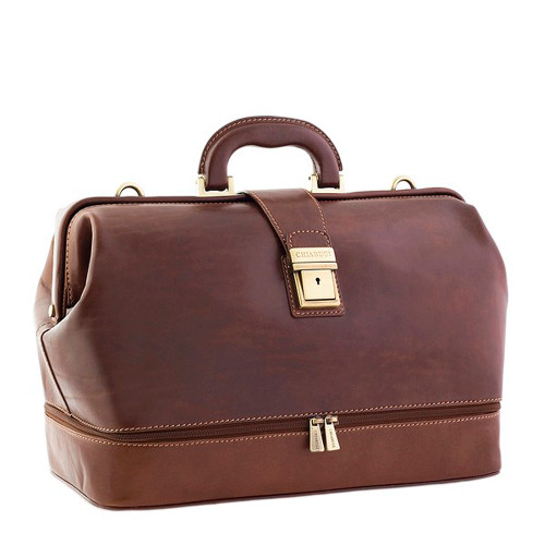 Chiarugi Italian Leather Doctor's Bag - Brown