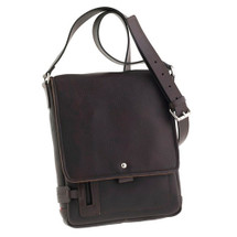 Chiarugi City Style Leather Messenger - Dark Brown