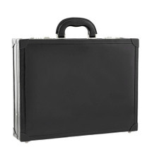 Chiarugi Italian Leather Attache Case - Black
