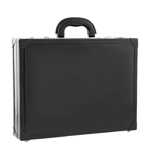 Chiarugi Italian Leather Attache Case - Black