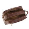Chiarugi Italian Leather Toiletry Wash Bag - Tan