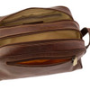 Chiarugi Italian Leather Toiletry Wash Bag - Brown 6