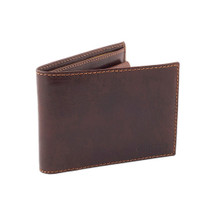 Chiarugi Bi-Fold Purse Wallet with Coin Compartment - Brown