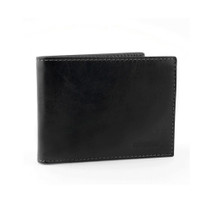 Chiarugi Bi-Fold Wallet with Coin Compartment and ID - Black