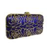 Anna Cecere Italian Designed Rosa Jewel Clutch Evening Bag - Blue 2