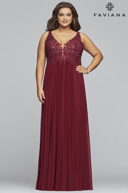 Faviana 9428 Plus Size Dress | Onlineformals.com