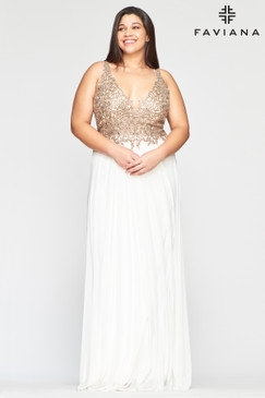 Faviana 9428 Plus Size Dress