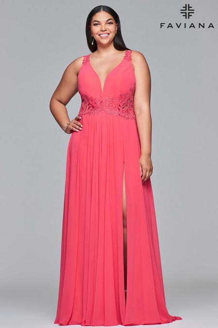 Faviana 9433 Plus Size Dress | Onlineformals.com